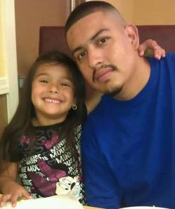 Roy Colunga with his daughter